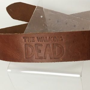 The Walking Dead Tooled Leather Belt Brown 36""